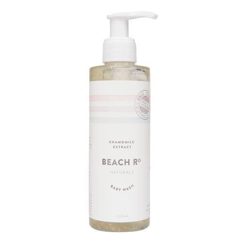 Baby wash chamomile scented in a pump pack bottle by Beach Road Naturals