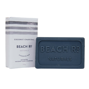 Coconut characoal 100g soap bar by Beach Rd Naturals