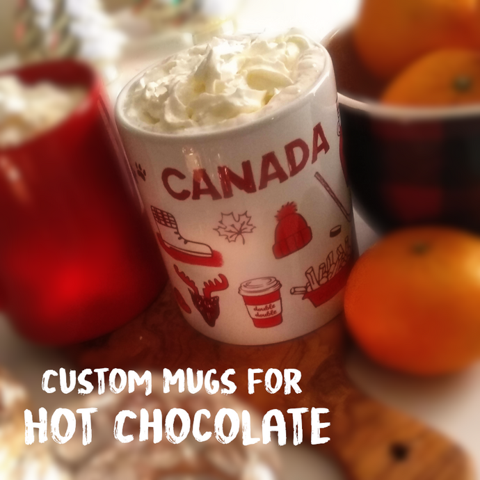 Hot Chocolate Custom Mugs | New Years Party Idea & Winter Holiday Treat