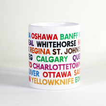 Load image into Gallery viewer, colourful canada town city mug souvenir tourist gift country