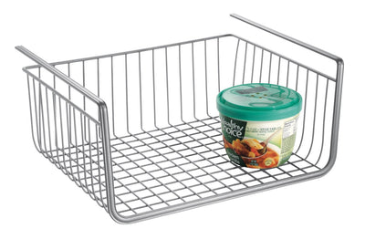 York Lyra Under Shelf Basket Silver