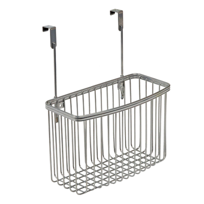 York Lyra Over Cabinet Basket Silver
