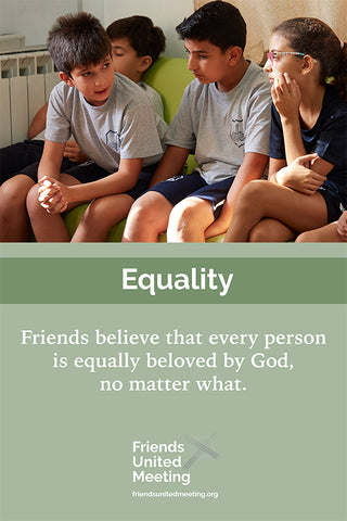 Friends Testimonies Poster: Equality