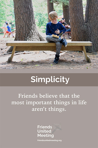 Friends Testimonies Poster: Simplicity