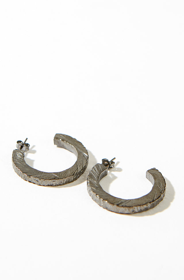 Chunky earrings, black rhodium, Margherita Potenza - SWIM XYZ