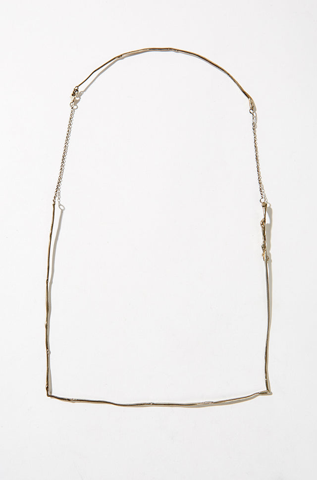 Square necklace, silver, Margherita Potenza - SWIM XYZ