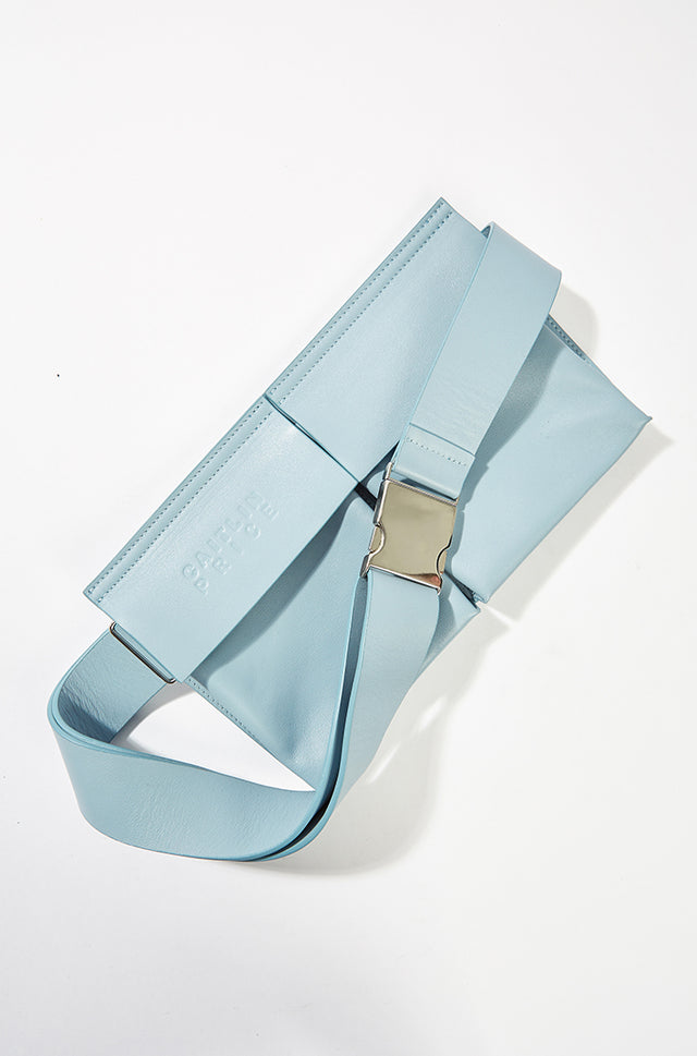 Leather Waist Bag - baby blue, Caitlin Price - SWIM XYZ