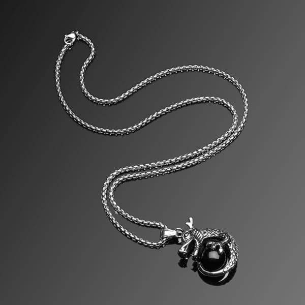 Men S Trendy Titanium Stainless Steel Chain Pendant Necklace