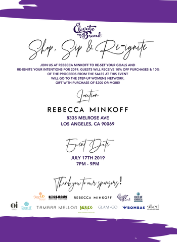 Rebecca Minkoff Sip, Shop and Re-ignite - Silked Sponsors Step Up