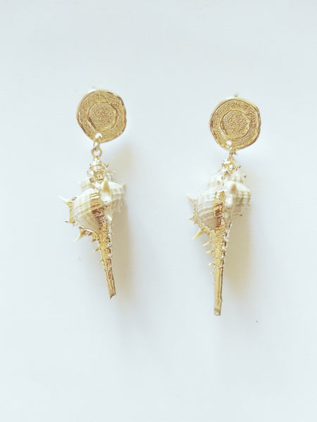 Vintage Style White Earrings