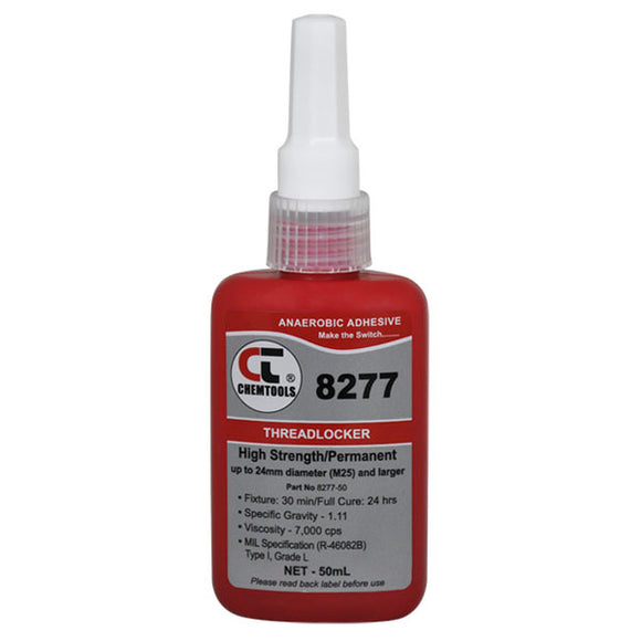 CHEMTOOLS 8277-50 Threadlocker 50ml High Strength