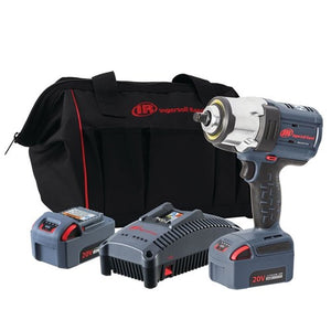 "Ingersoll Rand W7152-K22-AN: 1/2"" 20V Cordless Impact Wrench Kit, 2 Batteries"