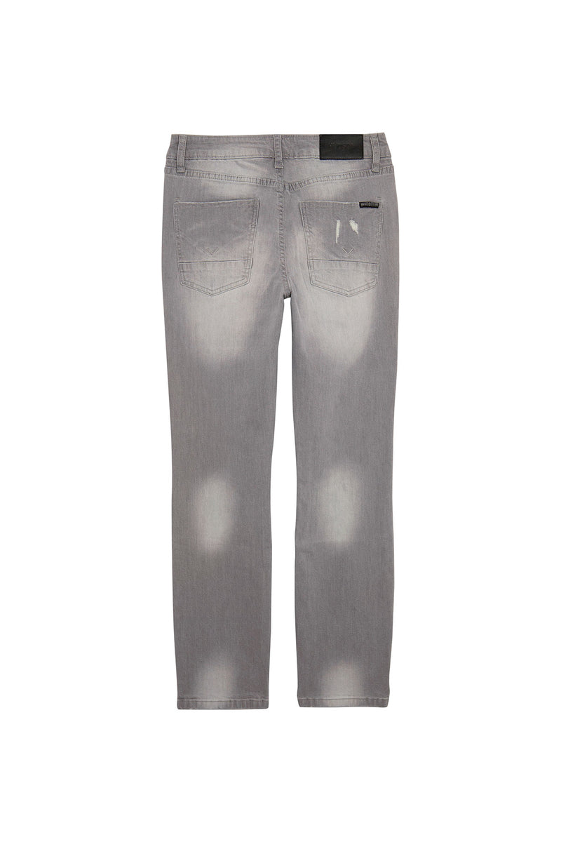 BOYS JAGGER SLIM STRAIGHT JEAN, SIZES 2T-7 - GREY CLOUD - Image 2