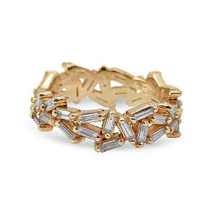 CHAOS BAGUETTE DIAMOND ETERNITY RING