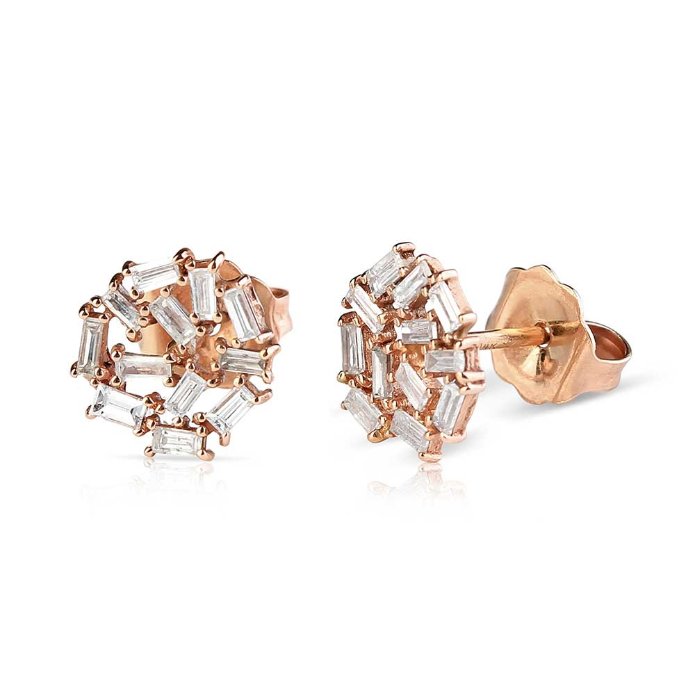 CHAOS BAGUETTE CLUSTER EARRINGS