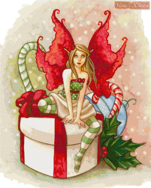 Christmas fairy counted cross stitch kit