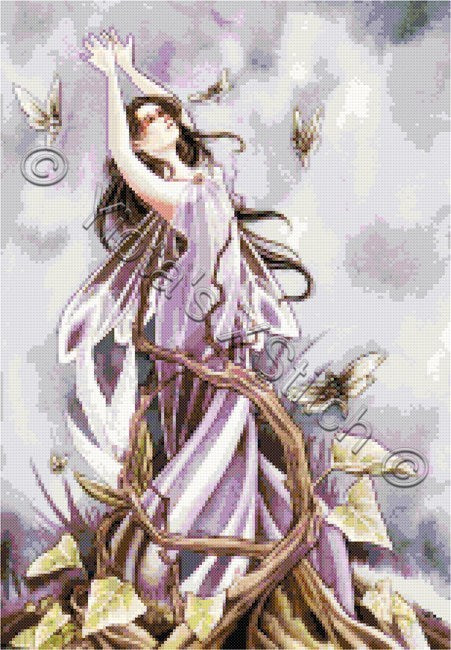 Escape fairy counted cross stitch kit