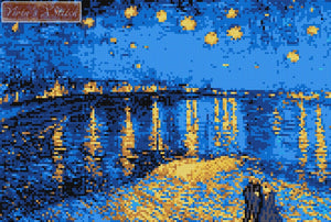 Starry Night over Rhone by Van Gogh counted cross stitch kit