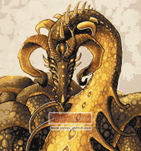 The great beast dragon counted cross stitch kit