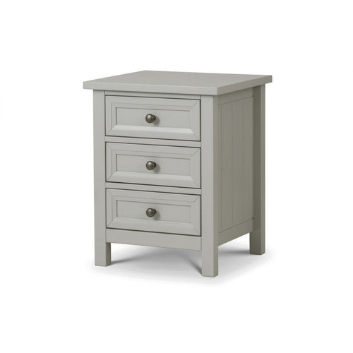 Maine Dove Grey 3 Drawer Bedside - Perfectly Home Interiors