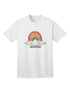 RAINBROS  Adult T-Shirt - White - 4XL Tooloud