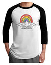 RAINBROS  Adult Raglan Shirt White Black 3XL Tooloud
