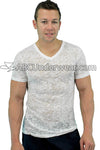 Burnout V Neck T-Shirt