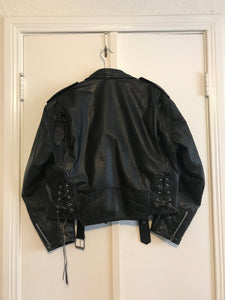 Oversized Leather Jacket - S