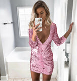 Asia Sequin Dress - Pink