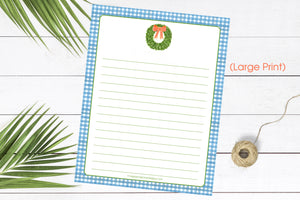 LARGE PRINT Boxwood - 8.5x11 Notepad