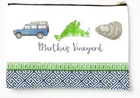 Martha's Vineyard - Zipper Pouch (3 sizes)