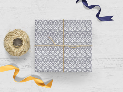 Gray Scales Gift Wrap