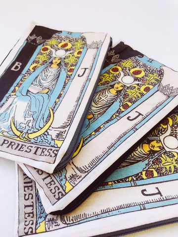 High Priestess Tarot Bags sold at Empress Vintage in Berkeley, CA.