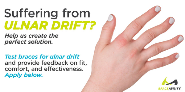 Ulnar drift splint new product design to help treat finger deformities