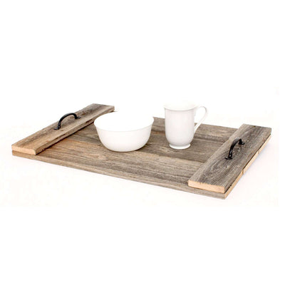Rustic Farmhouse Wood Breakfast / Coffee Table Tray