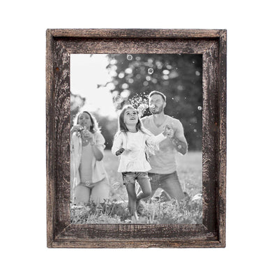Rustic Farmhouse Signature Picture Frame | Smoky Black