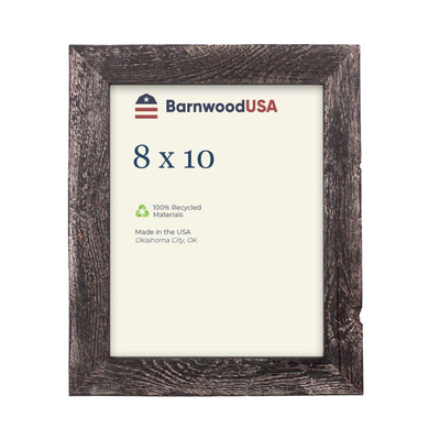 Rustic Farmhouse 1 1/2-Inch Picture Frame | Smoky Black
