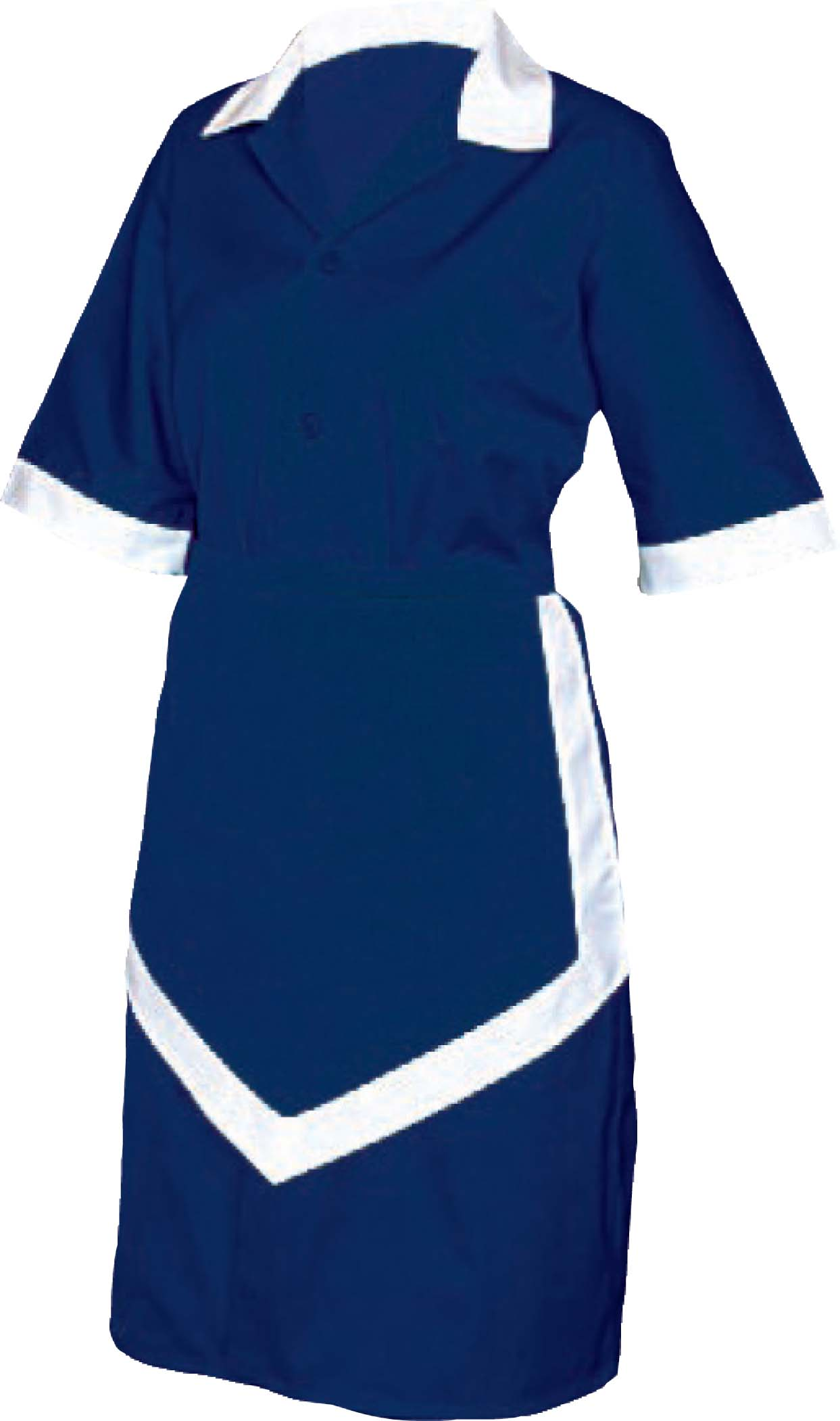 LADIES HOUSEKEEPING 3PC - NAVY AND WHITELarge UNI5033