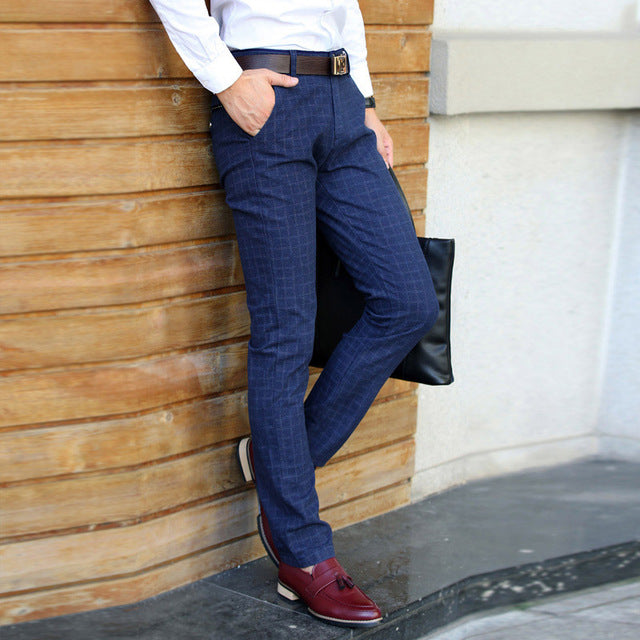 Men's Slim Fit Casual Business Suit Pants