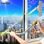 Eworld Hot Upgraded Telescopic High-rise Window Cleaning Glass Cleaner Brush For Washing Window Dust Brush Clean Windows Hobot