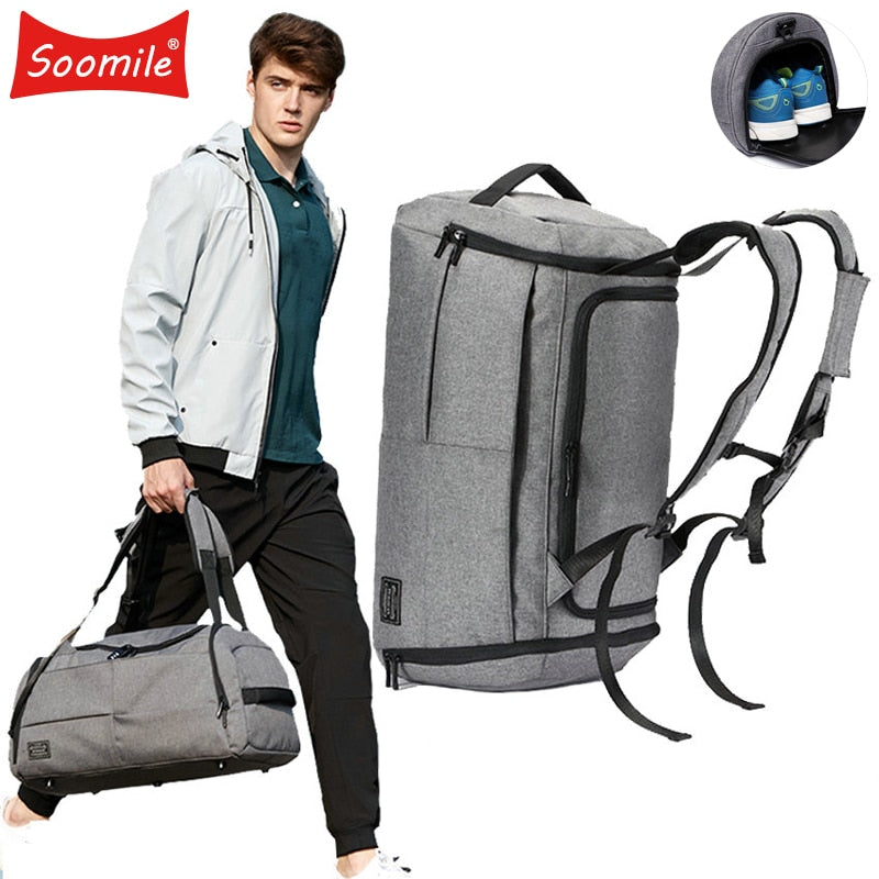 Men's Multi-Functional Cabin Backpack Duffle Bag