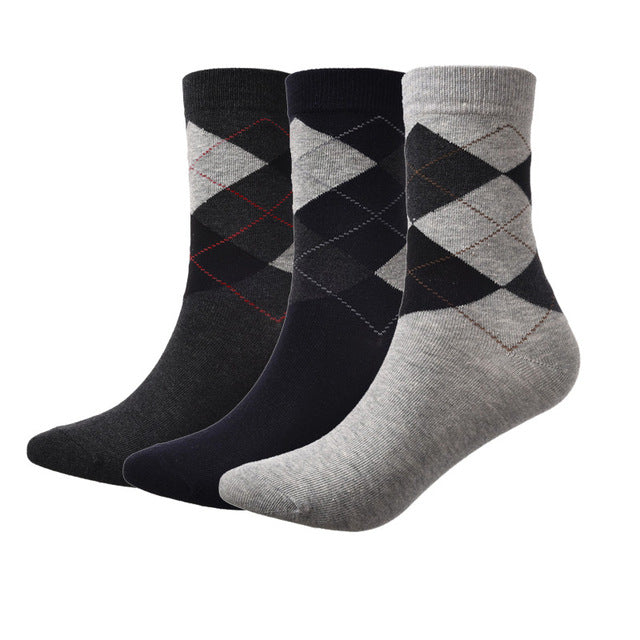 3 Pairs/Lot Men Dress Socks