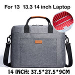 KALIDI 15 17.3 Inch Laptop Bag Waterproof Notebook Bag for Mackbook Air Pro 13.3 15.6 17.3 Laptop Shoulder Handbag 14 17 Inch