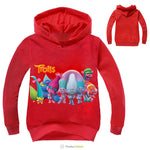 Boys Outwear Trolls clothes Hoodies Cartoon Troll Costumes Clothes T shirts Children's Sweatshirts For Boys Kids Tops