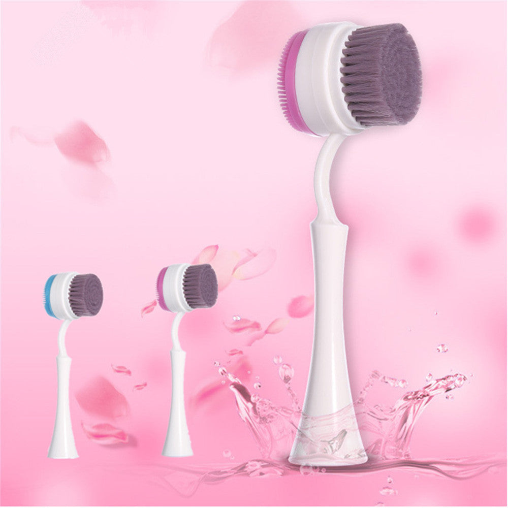 AQISI Double Face Skin Cleaning Brush Silicone