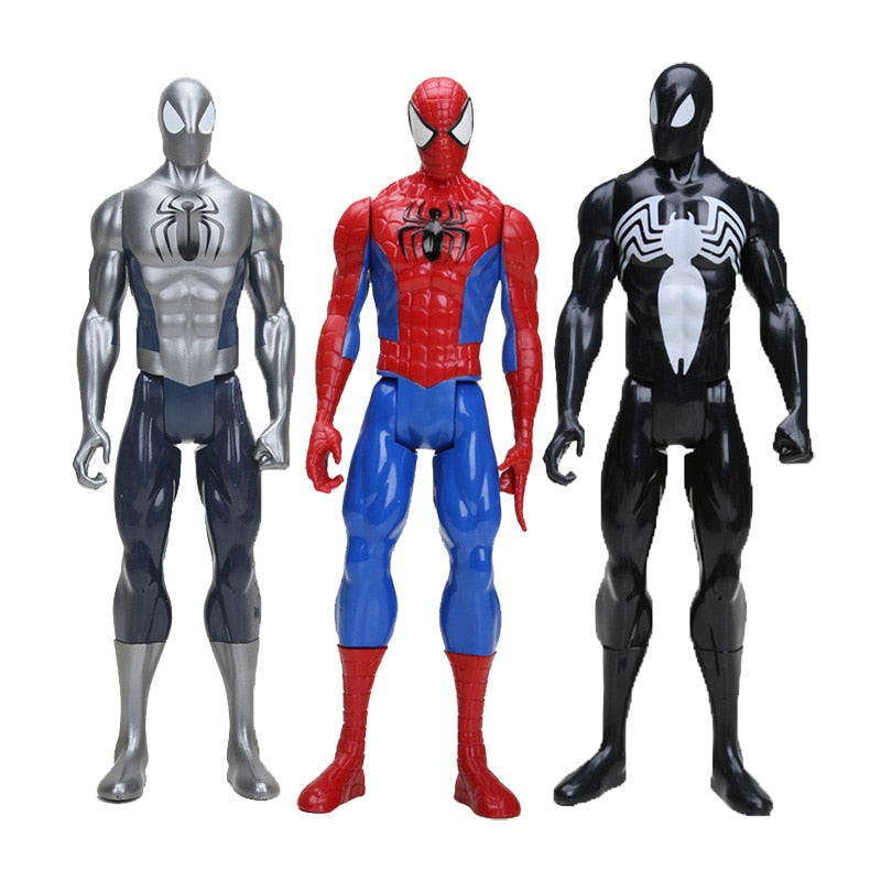 "12"" 30CM Marvel the avengers Black Suit Spiderman Spider-man Action Figure Spider man Toy Collectible Model Toy"
