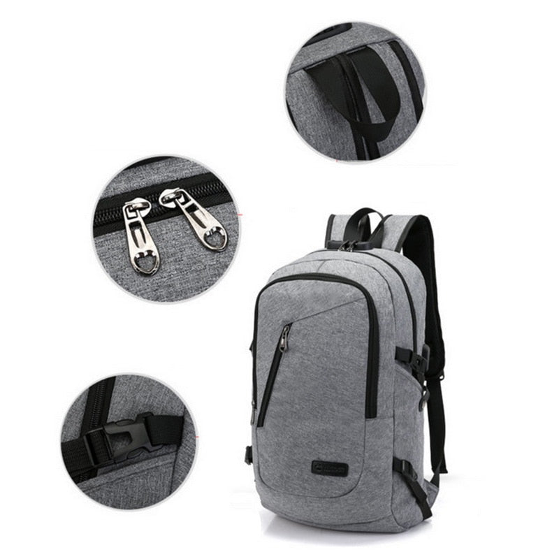 Anti-Theft Business Travel Backpack with USB Charging Port