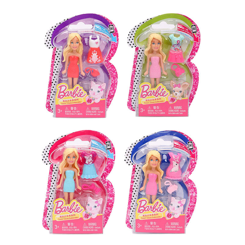 Barbie doll Zodiac Series 1Pc Barbies Baby Toys With Dress Clothes American Girls Boneca juguetes