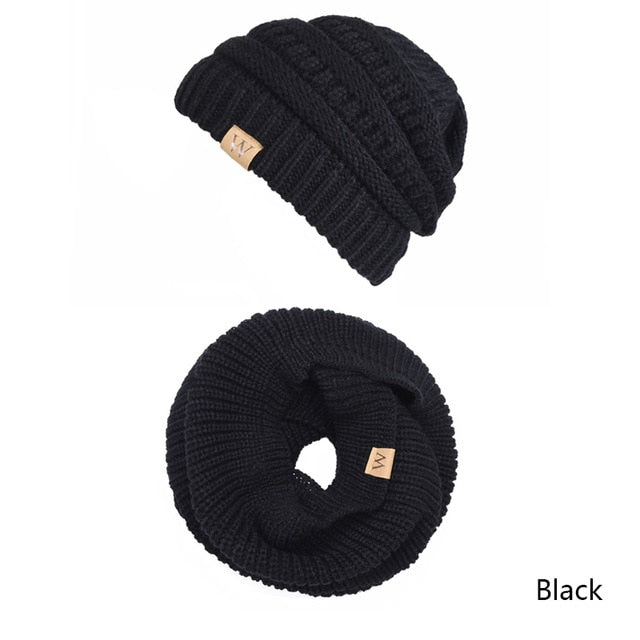 Women's Thick Knit Beanie and Scarf Set