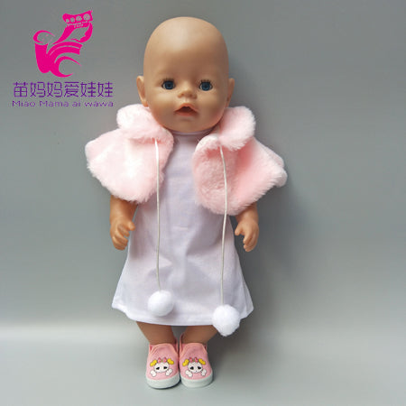 Doll clothes 18 inch doll coat sport outfit set Fit for 43cm Born Baby Doll clothes dress Wear children gifts